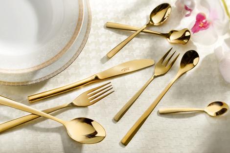 سرویس قاشق و چنگال 158پارچه مدل فلورانس طلایی ناب استیل