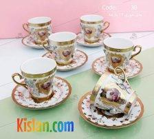 چای خوری 12 پارچه گل برجسته