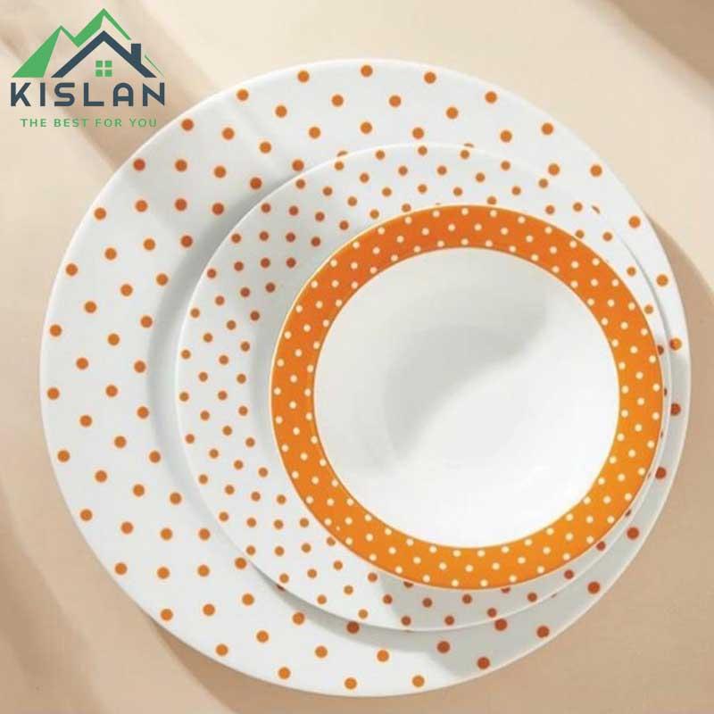 سرویس چینی 28 پارچه زرین اسپاتی نارنجی