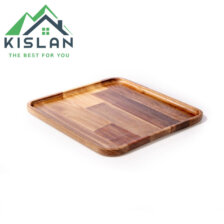 بشقاب مربع چوبی آماهوم سایز 25
