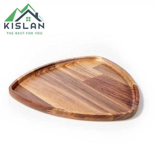 بشقاب مثلث چوبی آماهوم سایز 25
